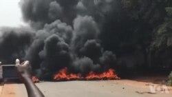 Estudantes queimam pneus em Bissau