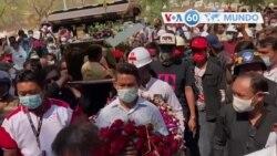 Manchetes mundo 23 Fevereiro: Myanmar - realizou-se o funeral de manifestante anti-golpe, morto pelas forças de segurança no sábado.