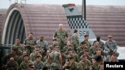 Американские военнослужащие на авиабазе Осан, Южная Корея, 30 июня 2019 года