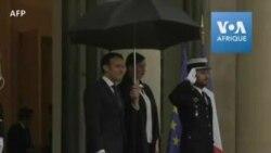 Macron reçoit Charles Michel à l'Elysée
