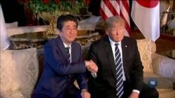 Візит прем'єр-міністра Японії до США: про що Трамп говорив з Сіндзо Абе? Відео