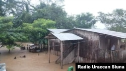El huracán Eta provocó inundaciones en la Costa Caribe de Nicaragua. Foto cortesía de Radio Uraccan Siuna.