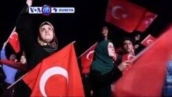 VOA60 DUNIYA: TURKEY Dubban Masu Zanga Zanga Sun yi Maci a Titutuna Birnin Istanbul, don Nuna Goyon Bayansu ga Shugaba Tayyib Erdogan