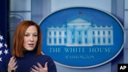 White House press secretary Jen Psaki speaks during a press briefing at the White House, Feb. 8, 2021, in Washington.