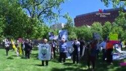 Էրդողանին Վաշինգտոնում դիմավորեցին բողոքի ցույցերով
