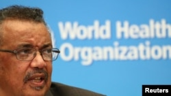 Director-General of the World Health Organization (WHO) Tedros Adhanom Ghebreyesus speaks during a news conference after a meeting of the Emergency Committee on the novel coronavirus (2019-nCoV) in Geneva, Switzerland January 30, 2020. REUTERS/Denis…