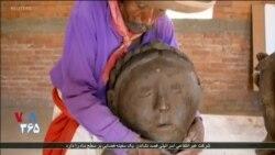 مجسمه ساز مکزیکی بدون بینایی، به تولید آثارش ادامه می دهد