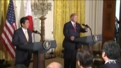 川普向安倍表達美國對亞太的承諾