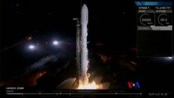 2018-1-8 美國之音視頻新聞: 獵鷹火箭成功發射秘密衛星進入軌道