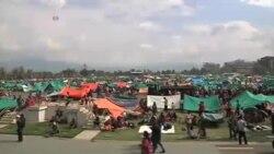 پایتخت نپال به یک اردوگاه بزرگ تبدیل شده است