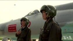 朝鲜航空节展示空军装备