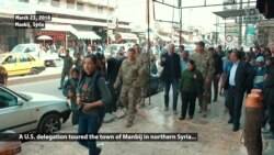 American Troops, Diplomats Tour Manbij Town in Northern Syria