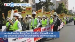 VOA60 World - Myanmar Military Leaders Extend Detention of Suu Kyi