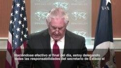 Secretario Tillerson se despide