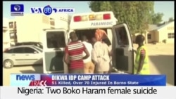 VOA60 Africa - Nigeria: Two Boko Haram female suicide bombers kill more than 60