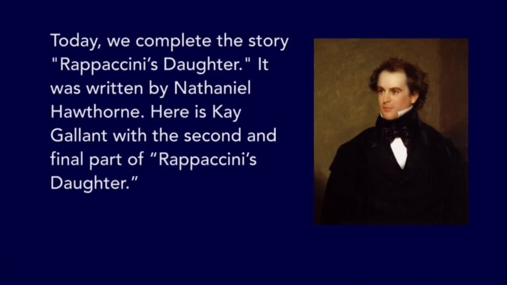 nathaniel hawthornes rappaccinis daughter Nathaniel hawthorne uses a number of symbols in 'rappaccini's daughter' to underscore the story's themes and allow readers to find additional.