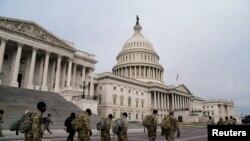 Hezên Zerevanîya Neteweyî yên li ber Kongresa Amerîka ya li Waşingtona paytext