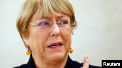 Umukuru w'ibiro vy'ishirahamwe mpuzamakungu bijejwe agateka ka zina muntu, Michelle Bachelet.