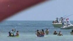 美泳将尼亚德首次横渡古巴美国间海峡