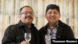 Los bolivianos David Aruquipa y Guido Montaño formalizaron su matrimonio ante un juez 11 de diciembre de 2020 en Bolivia.