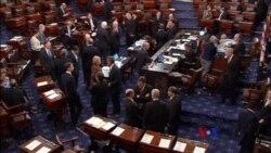 2018-1-19 美國之音視頻新聞: 國會參院未投票 政府是否關閉週五定音