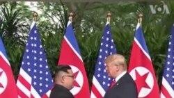 သမၼတTrump နဲ႔ ေျမာက္ကိုရီးယား ေခါင္းေဆာင္ Kim တို႔ရဲ႕ ထိပ္သီးညီလာခံ ပံုရိပ္မ်ား