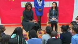 美第一夫人访华 教育为重要主题