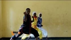 Les jeunes rwandais se mettent au kung-fu