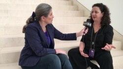Sommet sur les MGF à Washington: Deborah Ottenheimer au micro de Nathalie Barge