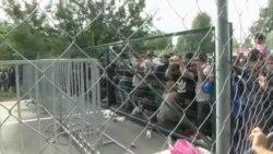 نصب سیم خاردار در مرز مجارستان برای پیشگیری از ورود مهاجران