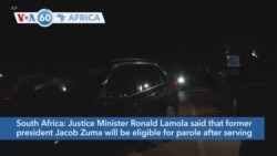 VOA60 Africa - South Africa: Former President Zuma Turns Himself In for Prison Term
