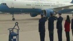 Новоизбраниот претседател Доналд Трамп пристигна во Вашингтон пред утрешната инаугурација