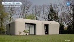 Hollanda'nın 3 Boyutlu Yazıcıyla İnşa Edilen İlk Evi