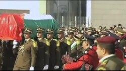 مراسم خاکسپاری وزیر فلسطینی در کرانه غربی