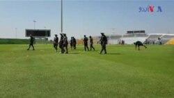 ابو ظہبی میں پاکستان کرکٹ ٹیم کی پریکٹس