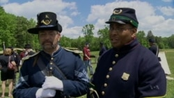 Re-enactors Celebrate African-American Contribution to US Civil War