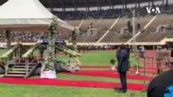 Police and Army Band Play at State Funeral for Former Zimbabwe Leader