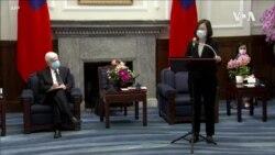 蔡英文會見美國訪台代表團 稱將與美國共同守護印太和平