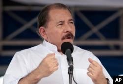 FILE - Nicaragua's President Daniel Ortega.