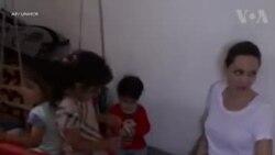 انجلینا جولی کی شامی پناہ گزینوں سے ملاقات