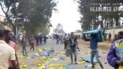 Balandi ya UDPS bapanzi ndako ya PPRD, police ebeti gaz lacrymogène