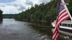 Canoeing on the St. Croix River.