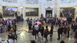 Thousands Pay Last Respects to McCain at US Capitol