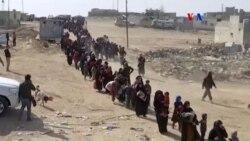 Miles de desplazados durante asalto a Mosul