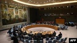 جلسه شورای امنیت سازمان ملل متحد در مقر آن سازمان در شهر نیویورک. ۲۶ فوریه ۲۰۲۰