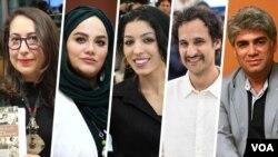 اعضای جدید ایرانی دعوتشده برای عضویت در آکادمی اسکار: (از راست) ستار اورکی، علی عباسی، سمیرا مخملباف، نرگس آبیار، و الهام شاکریفر