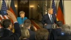 Дональд Трамп подякував Анґелі Меркель за її лідерство у вирішенні конфлікту на сході України. Відео