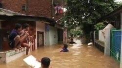 印尼首都洪水氾濫四人死