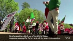 Pro-Turkish Demonstrators March in Washington