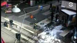 Возможный теракт в Швеции. В центре Стокгольма грузовик въехал в толпу. Есть жертвы